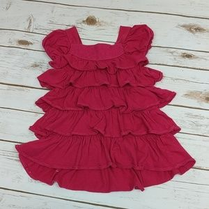 Magenta Cotton Ruffle Dress 12-18 months